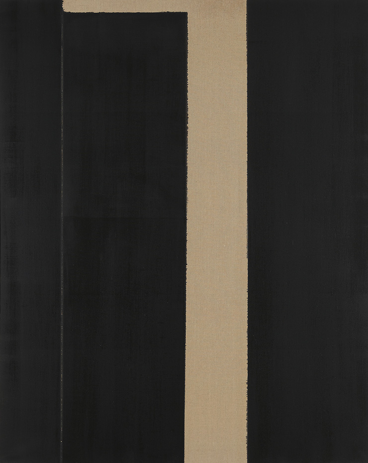 윤형근, 〈Burnt Umber _ Ultramarine Blue〉, 1999, Oil on linen, 227.5x181.6cm. Image ⓒYun Seong-ryeol. Courtesy of PKM Gallery.
