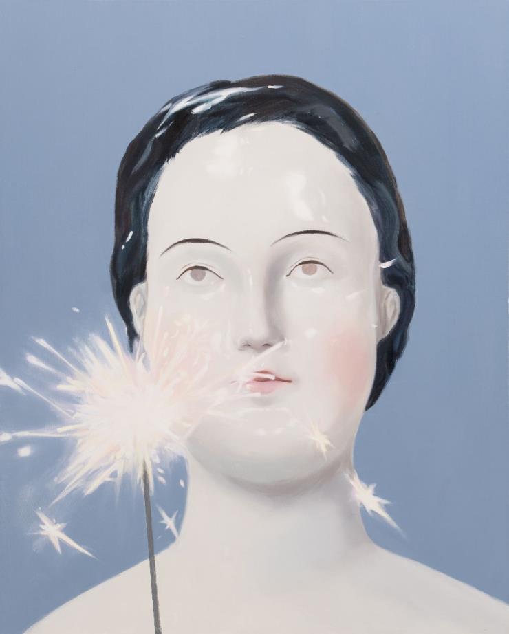 'Spark', 90.9 x 72.7 cm, Oil on Canvas, 2019