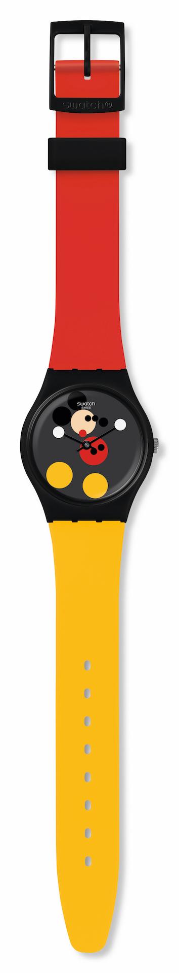 미키마우스 탄생 90주년을 기념해 스와치와 데미안 허스트가 협업한 시계. 2018년에 한정판으로 전세계 19,000개 출시되었다. @스와치 제공