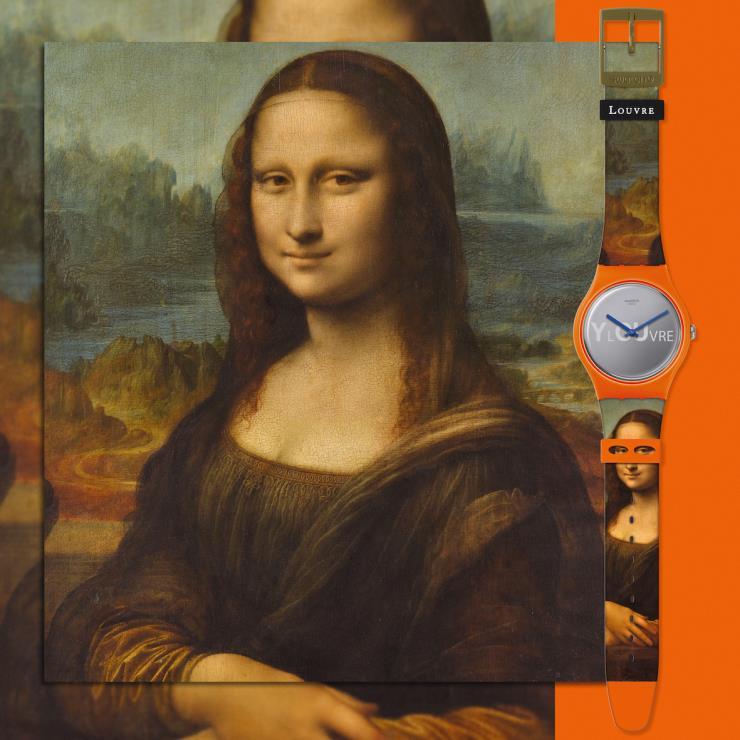 레오나르도 다빈치의 [모나리자], 귀도 레니의 [헬레네의 납치]를 세상에서 가장 작은 캔버스에 옮겼다. 스와치 루브르 컬렉션. @스와치 제공