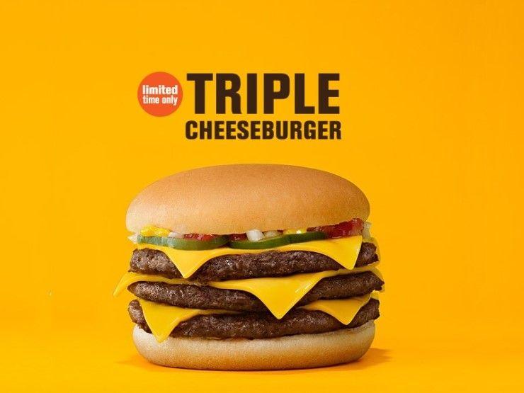 맥도날드 트리플 치즈버거