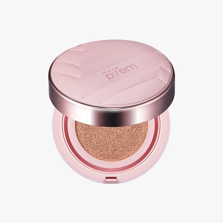 Makep:rem 베이스 미 틴티드 글로우 쿠션 SPF50/ PA++++ 3만2천원대.