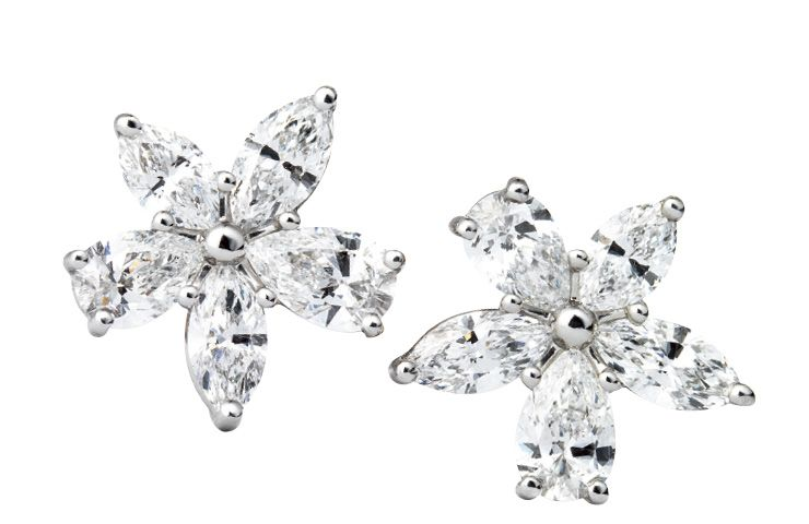 Tiffany & Co. 빅토리아 믹스드 클러스터 이어링, 가격 미정