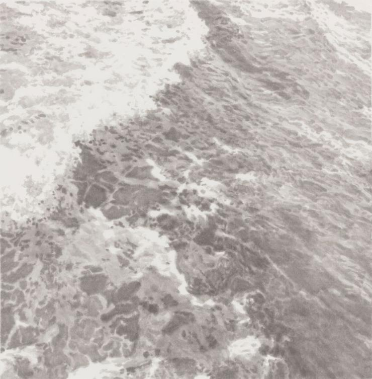 정용국, 'Skin', 한지에 수묵, 69 x 68cm, 2020