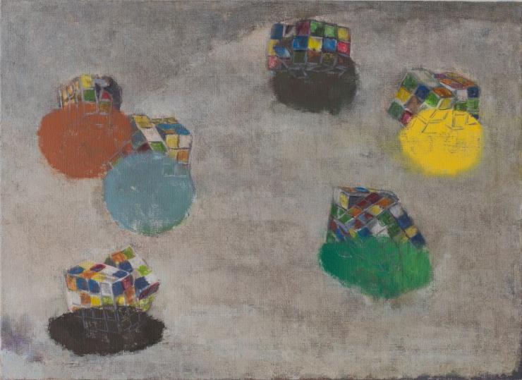 강석호, '무제', 린넨위에 유채, 72.7 x 100cm, 2020