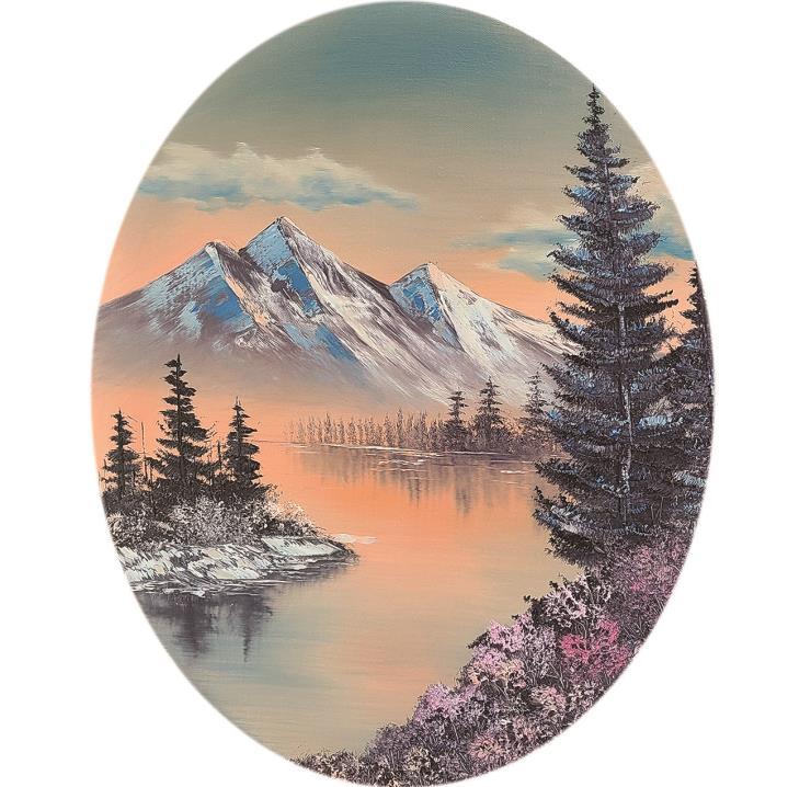 인세인 박, Joy of Painting (그림을 그립시다), 2020, Oil on canvas, 50 x 40 cm