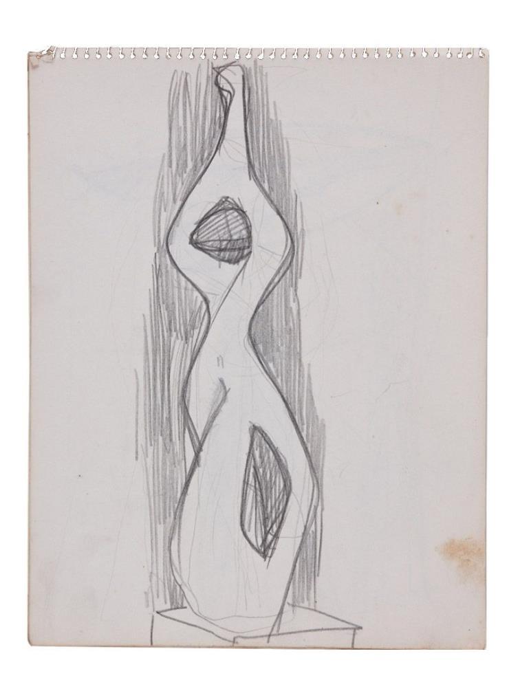 송영수, 무제, 20.4x26.7cm, 종이에 연필, 연도 미상