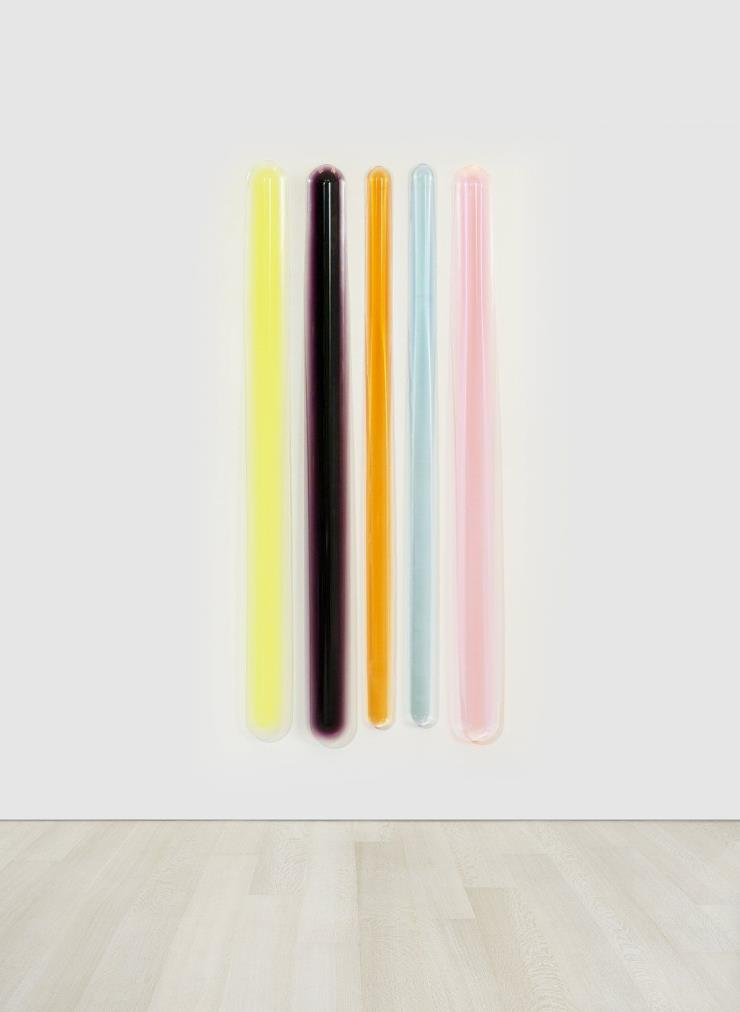 Peter Alexander, Makes Your Mouth Water, 2020, urethane, 5 units, each 195.6 x 81.3 x 3.8 cm, overall installed ⓒ Peter Alexander