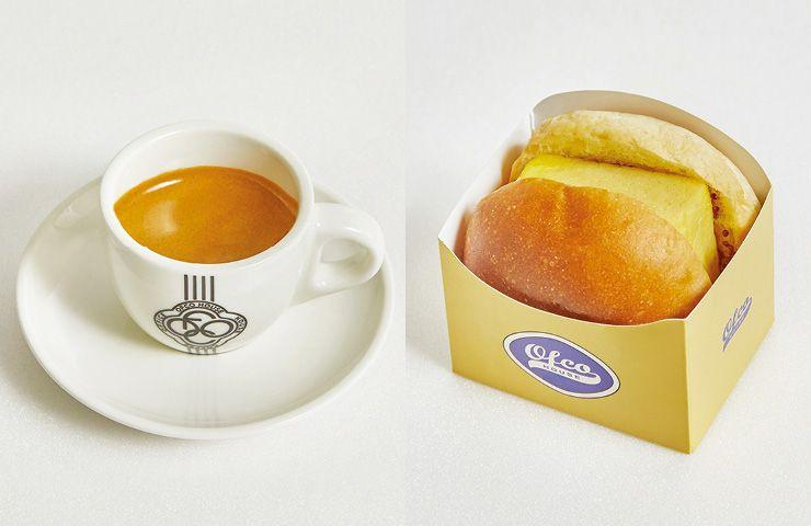에스프레소 커피와 시그너처인 에그 샌드위치.