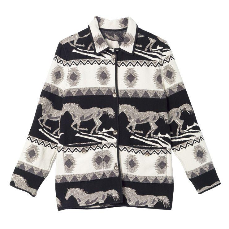에스닉 패턴의 재킷은 64만9천원, Maje.