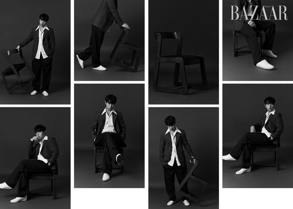 셔츠, 재킷, 팬츠는 모두 Lemaire by 10 Corso Como. 신발은 스타일리스트 소장품.