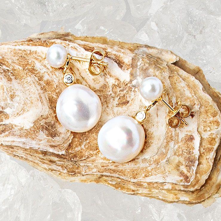 작은 다이아몬드가 영롱함을 더하는 귀고리 40만원대 야모코(Yamoko).