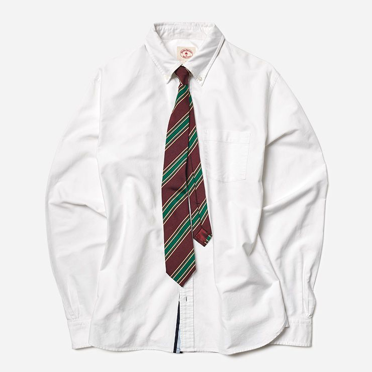 화이트 셔츠 8만5000원 브룩스 브라더스 레드 플리스. 타이 30만원 구찌.