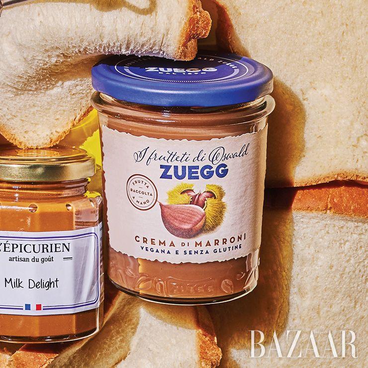 과수원과 농장의 맛을 잼으로 만드는 이탈리아 브랜드의 고소한 밤잼은 7천9백원 Zuegg.