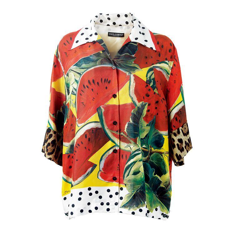 이국적인 프린트의 셔츠는 가격 미정, Dolce & Gabbana.