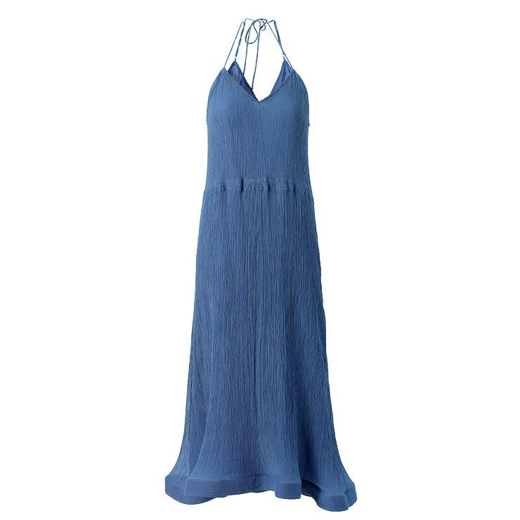 블루 컬러 슬립 드레스는 1백33만원, JW Anderson.