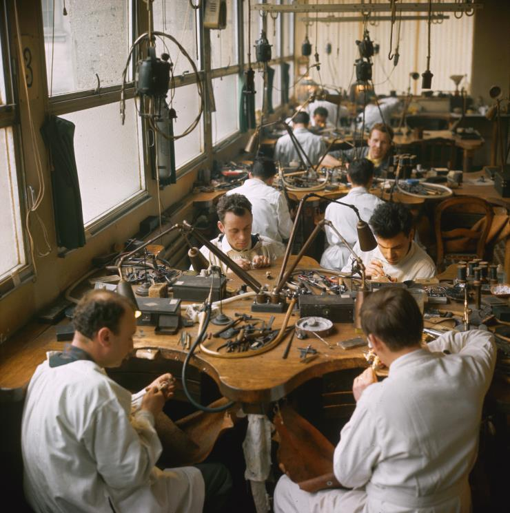 1960년에 촬영된 쇼메의 아틀리에 전경. Ⓒ게티 이미지