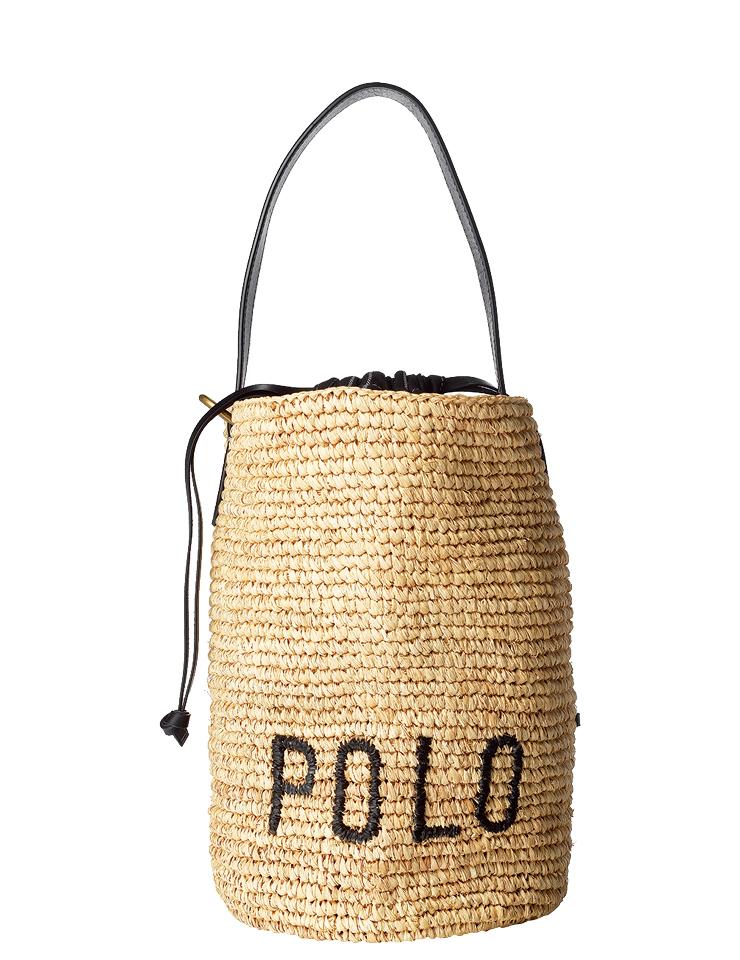 로고 타이포그래피의 버킷 백은 30만원대, Polo Ralph Lauren.