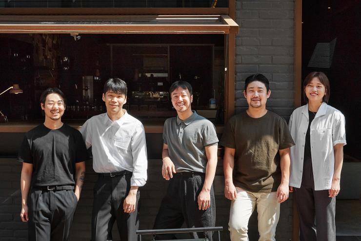 (왼쪽부터) 윤인찬, 원선본, 신은수, 오세민, 임유진.