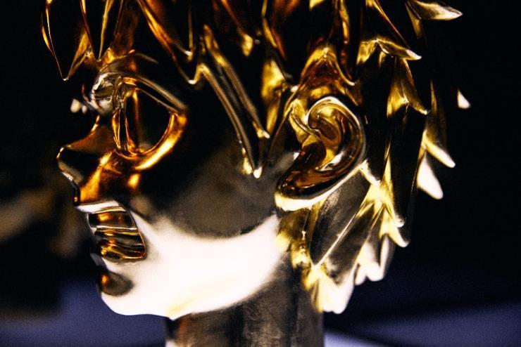 옥승철, 'Golden Spike', Gilded Wood, H.30cm, 2020(Detail cut) Photo by 김석준