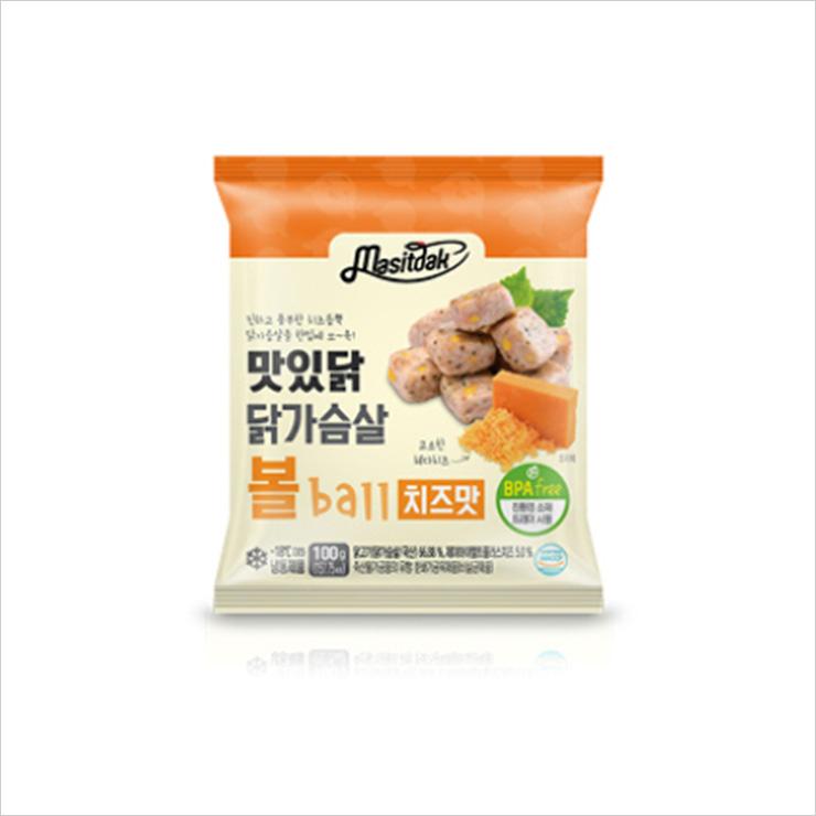 Masitdak 닭가슴살볼 치즈 10팩(1kg) 1만8천원.
