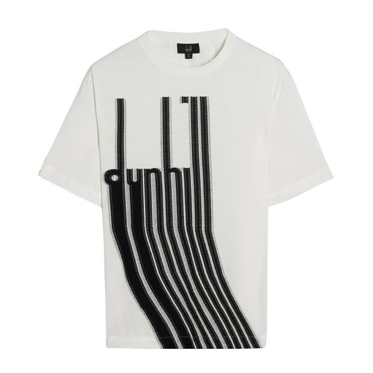 로고를 바코드처럼 재해석한 프린트 티셔츠는 49만원, Dunhill.
