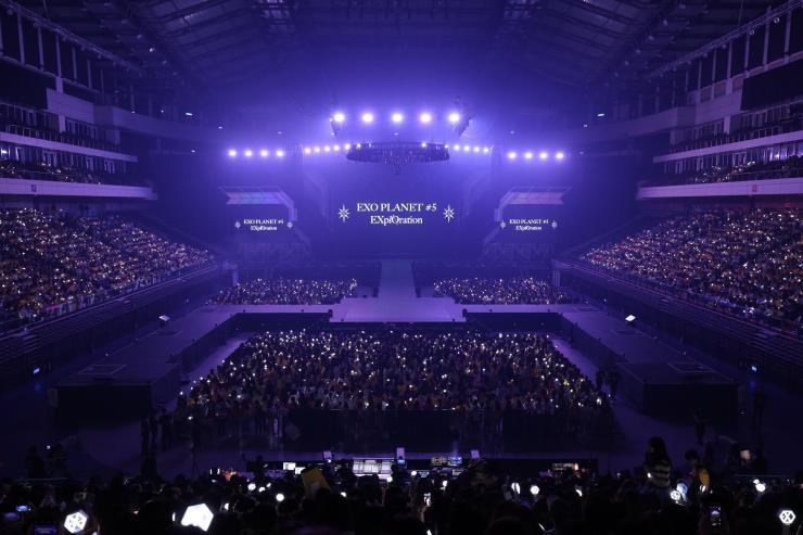 2019년 9월 타이페이 아레나에서 열린 EXO 콘서트. ⓒGetty Images
