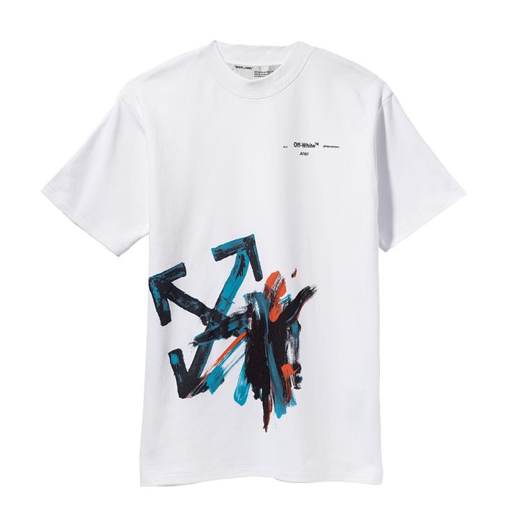 그래피티 프린트의 티셔츠는 46만원, Off-White™.
