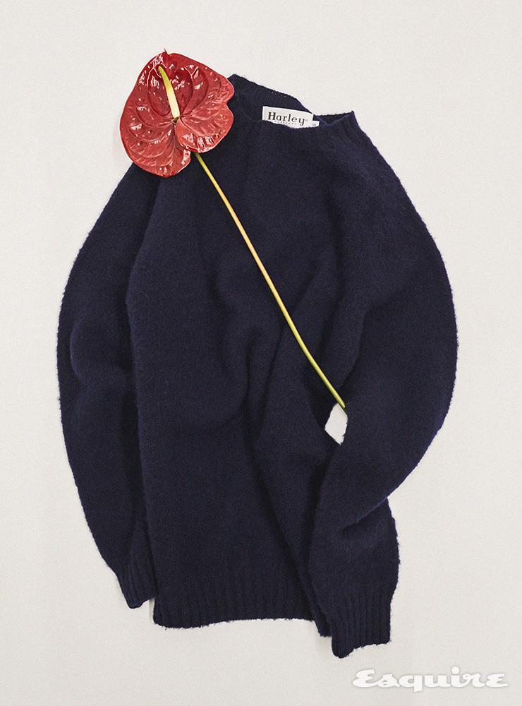 섀기 도그 크루넥 스웨터 16만원 할리 오브 스코틀랜드 by 바버샵.