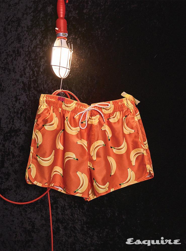 바나나 패턴 프린트 스윔 쇼츠 1만9900원 H&M.