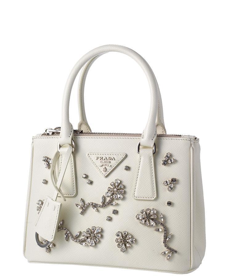 아플리케 장식 프라다 갤러리아 백, 3백35만원, Prada.