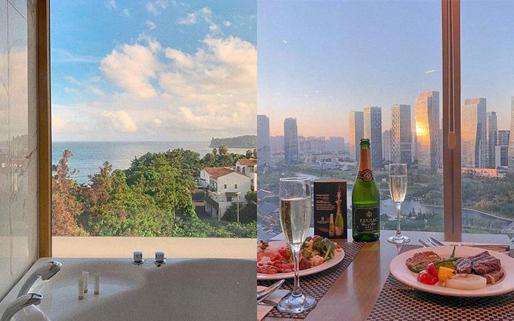 좌: 골드원 호텔&스위트 / 우: 오라카이 송도파크 호텔