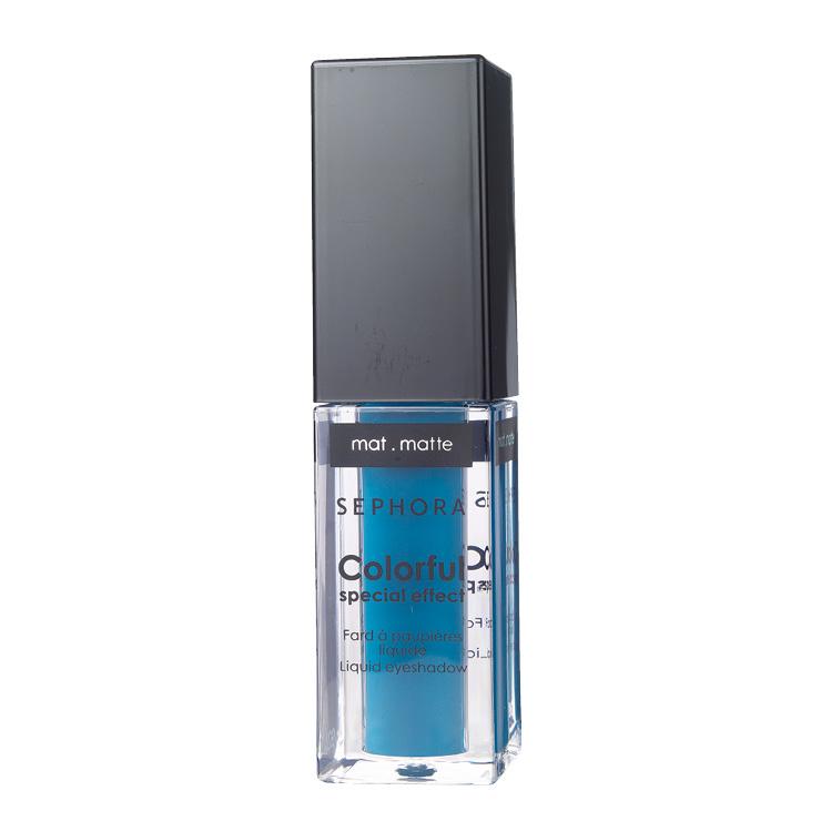 부드러운 리퀴드 텍스처의 컬러플 스페셜 이펙트 리퀴드 아이섀도, 05 트로피컬 틸, 1만6천원, Sephora Collection.