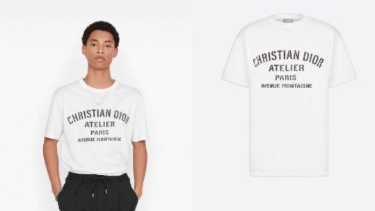 'CHRISTIAN DIOR ATELIER' 오버사이즈 티셔츠는 91만원, Dior.