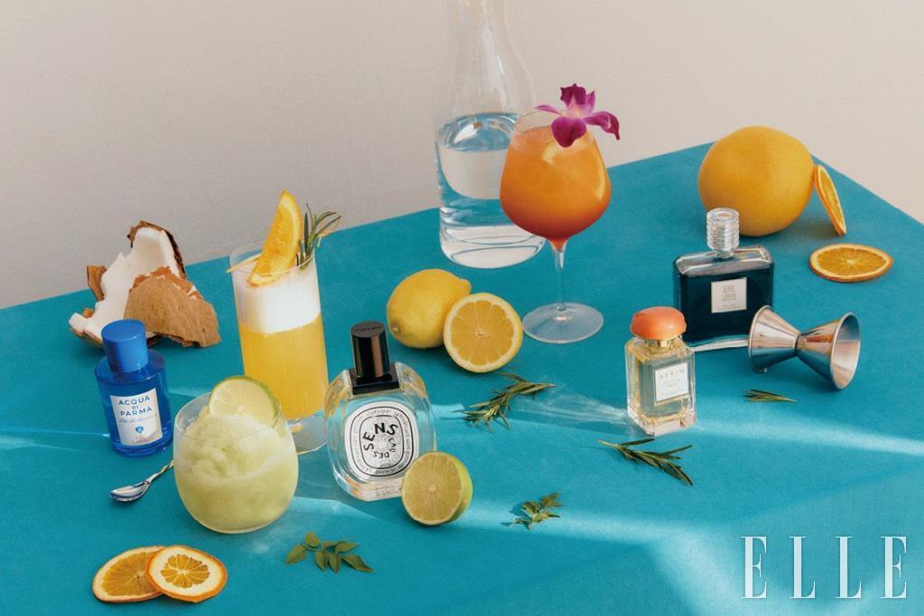 (왼쪽부터) 이탈리아 아말피 레몬을 가득 담아 해변에서 모히토 한 잔을 마신 듯 상큼한 향을 느낄 수 있다. 피코 디 아말피 오 드 뜨왈렛, 75ml 15만3천원, Acqua Di Parma. '나의 작은 라임 오렌지 나무'라고 할 만큼 싱그러운 오렌지 열매와 오렌지꽃의 향긋함을 담았다. 오 데 썽 오 드 뚜왈렛, 100ml 17만5천원, Diptyque. 달콤한 코코넛 밀크와 튜베로즈 앱솔루트가 블렌딩된 향이 야생화가 무성한 열대 섬으로 안내한다. 히비스커스 팜, 50ml 15만2천원, Aerin. 마냥 달달하지 않고 만다린의 달콤함에 스파이시한 매력까지 겸비했다. 뽈리떼스 데 끌루 뿌르 윈느 뻬뤼르, 100ml 19만3천원, Serge Lutens.
