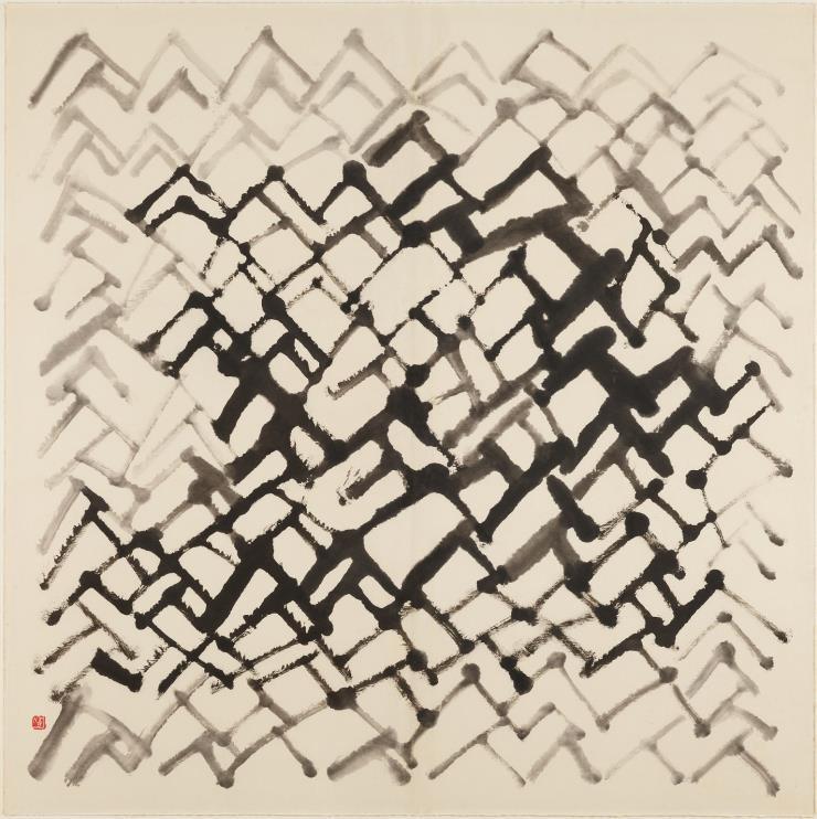 서세옥, '사람들', 1988.