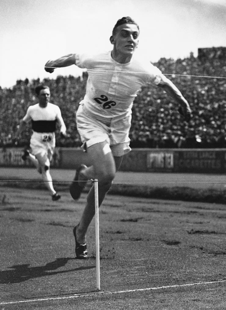 1924년, 파리 올림픽에 출전한 해롤드 아브라함의 실제 모습. ⓒ게티 이미지