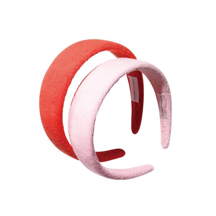 엘리자베스 모먼트 테리 헤드 밴드 체리 레드 & 베이비 핑크 각각 4만원.
