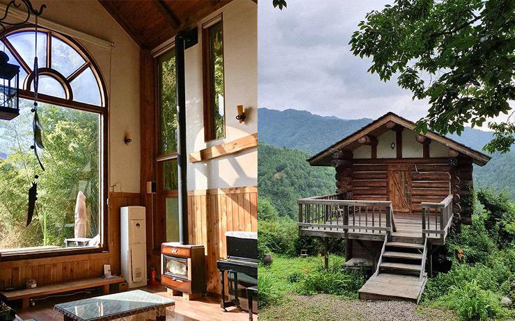 좌: 모악산의 아침 / 우: 향초목원