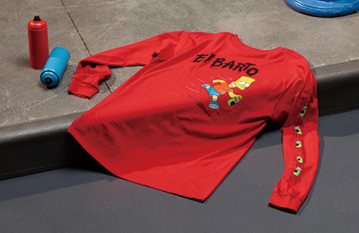 애니메이션을 패션으로 재탄생시킨 '반스 x 심슨 가족' 캡슐 컬렉션.