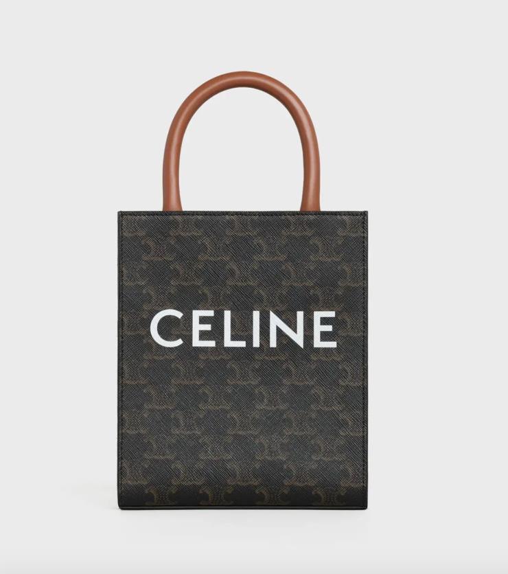아담한 사이즈의 쇼퍼백인 미니 카바스 트리옹프 백은 가격 미정, Celine.