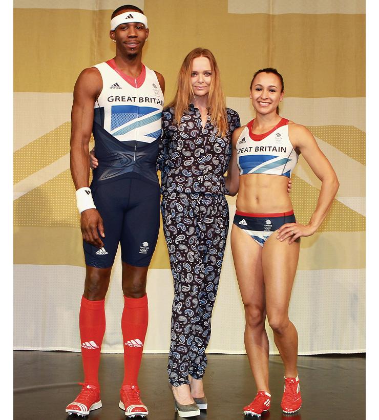 스텔라 매카트니가 디자인한 영국 국가대표 선수단 의상.