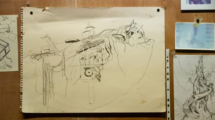 'Drawings' 부분 촬영.