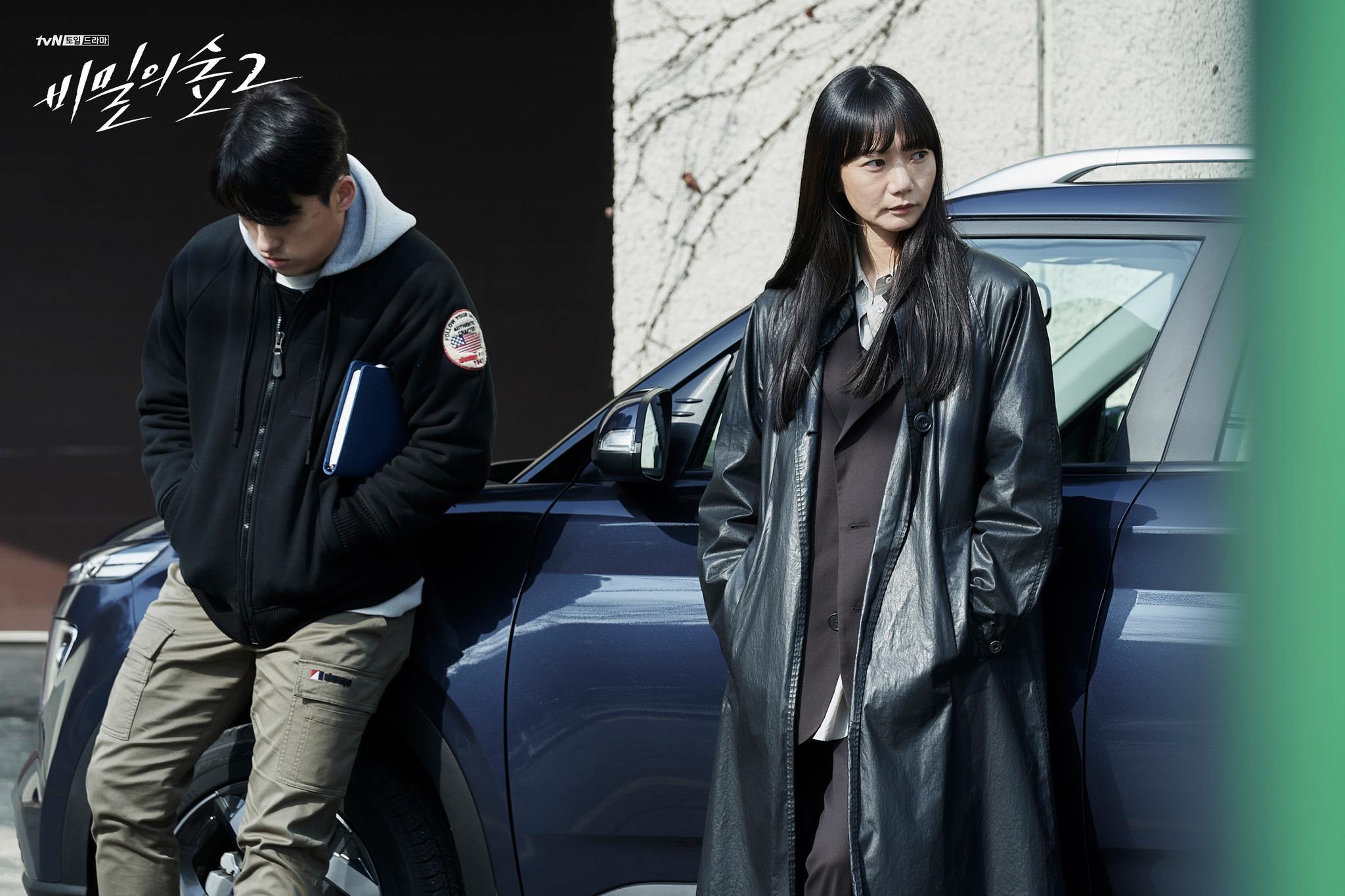 '비밀의 숲' 시즌 2에서 르메르 트렌치 코트를 착용한 배두나