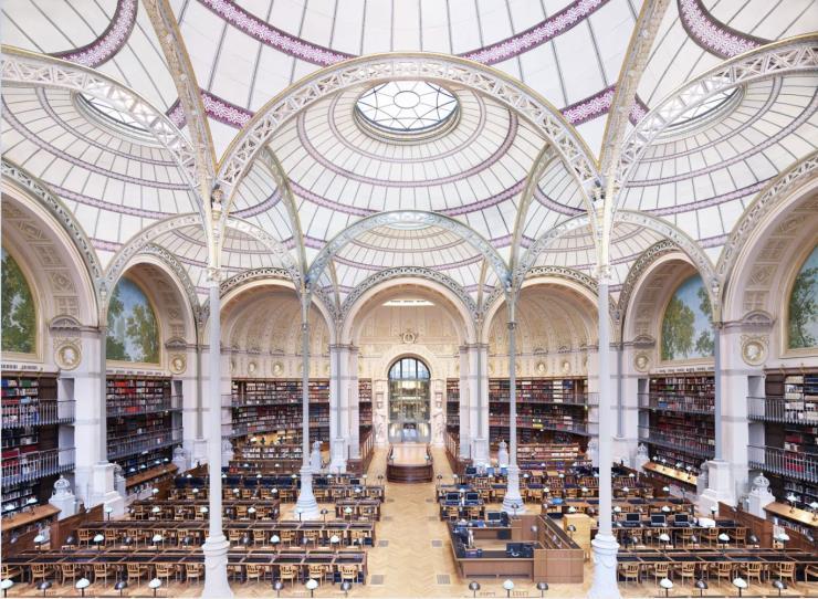 'La Salle Labrouste La Bibliothèque de l'INHA Paris II 2017'.