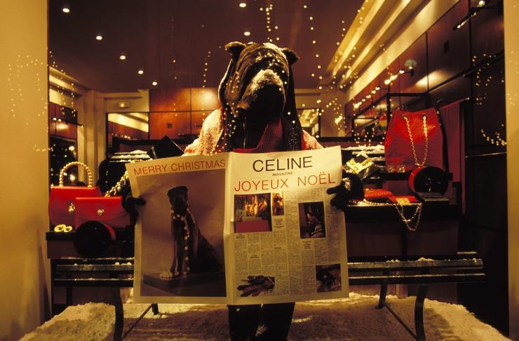 1989년 성탄장식된 셀린느 스토어 전경. Ⓒ게티 이미지
