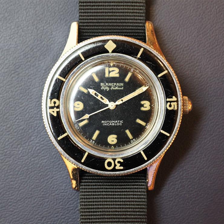 1953년에 등장한 최초의 현대 다이빙 시계다. 블랑팡 피프티 패덤즈.
