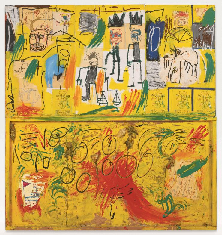 'Untitled (Yellow Tar and Feathers)', 1982.