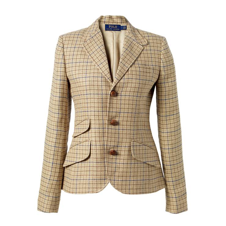 클래식한 체크 재킷은 80만원대, Polo Ralph Lauren.