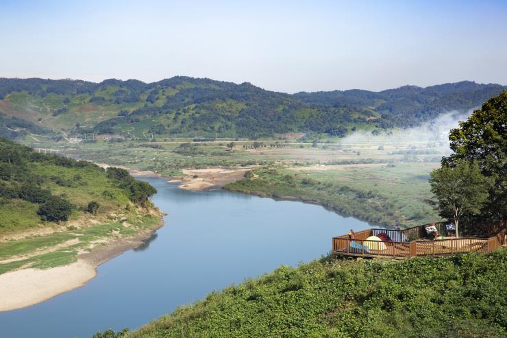 북한에서부터 흘러 내린 물줄기, 연강나룻길 (c) 조혜원